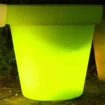 Pot fleur lampe 60 cm Vert