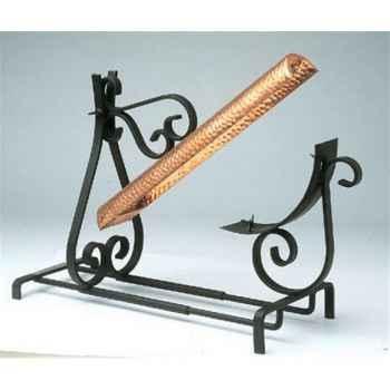 Stefanovic rampe raclette fer forgé cuivre B02188
