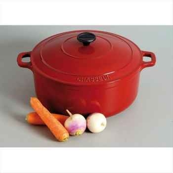 Chasseur cocotte fonte ronde rouge 317610