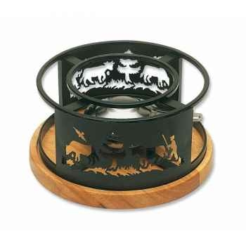 Schwarz réchaud socle bois - alpes B51302