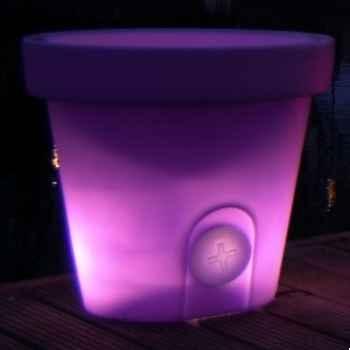Pot fleur lampe 60 cm Violet