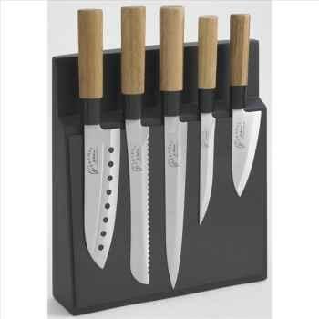 Jean dubost bloc aimanté 5 couteaux kyoto  276189