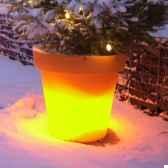 pot fleur lampe 60 cm orange