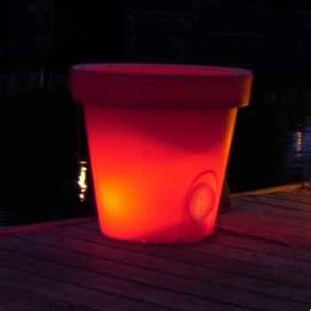 Pot fleur lampe 60 cm Rouge