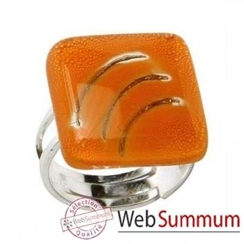 BcommeB-Bague carrée, 2cmx2cm-bc63w