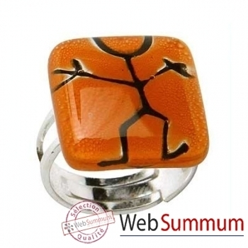 BcommeB-Bague carrée, 2cmx2cm-bc33w