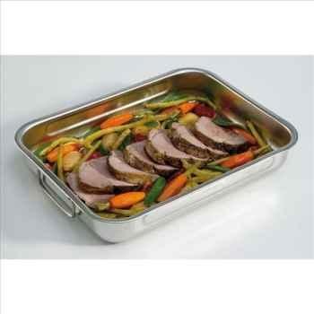 Steel pan plat à four carré en inox 36 x36 cm 256030