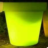 pot fleur lampe 40 cm vert