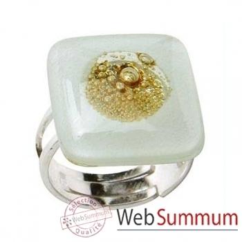 BcommeB-Bague carrée, 2cmx2cm-bc41w