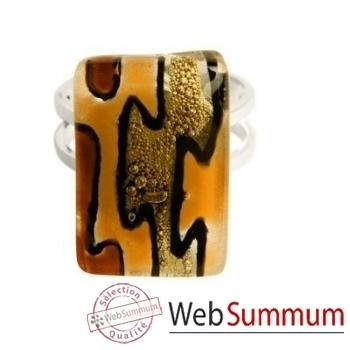 BcommeB-Bague rectangulaire, 1.5cm x 2cm-bre3w