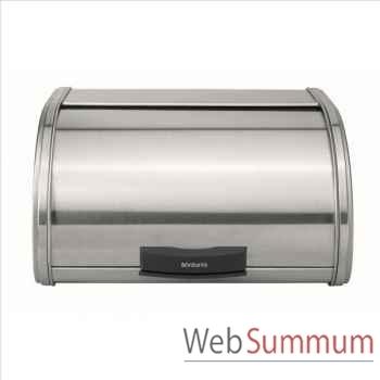 Brabantia boîte à pain touch bin matt steel 500380
