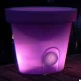pot fleur lampe 40 cm violet