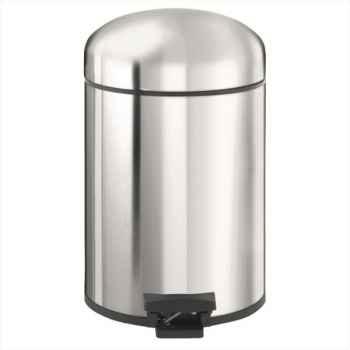 Brabantia poubelle à pédale rétro bin 5 l brillant steel 500441