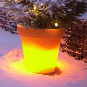 Pot fleur lampe 40 cm Orange