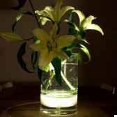 vase intterieur avec lumiere fleur lampe 29 cm verre