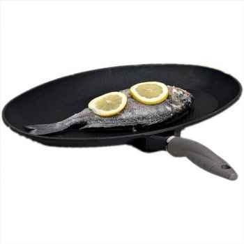 Valira poêle à poisson 26,5 cm - tecnoform platinium 306144