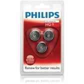 philips lot de 3 tetes de rasoir speed x661776