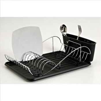 Egouttoir à vaisselle chromé vague noir 270