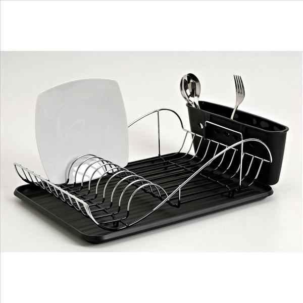 egouttoir vaisselle chrom vague noir web summum. Black Bedroom Furniture Sets. Home Design Ideas