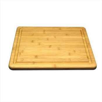Planche à découper à rigole bambou 323