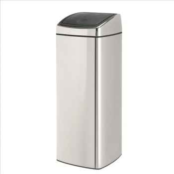 Brabantia poubelle touch bin 25 l rectangulaire brillant steel 557