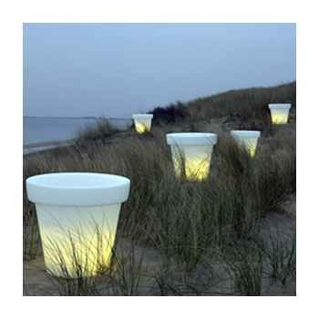 Pot fleur lampe 100 cm Blanc