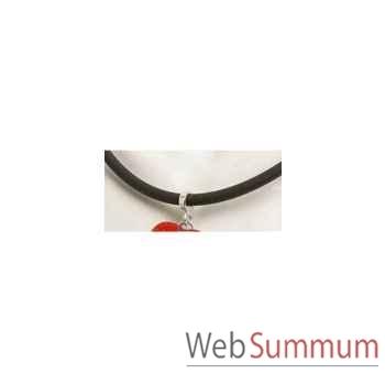 Bijouxenverre-Tour de cou souple en néoprène noir seul .