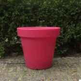 pot fleur 40 cm rouge