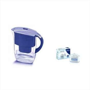 Brita carafe 2l6 bleu - fyord cool + 2  cartouches offert 2268