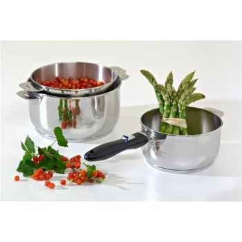 Lagostina série de 3 casseroles 16 à 20cm inox - salvaspazio 2858