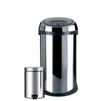 Brabantia poubelle 50l  touch bin + poubelle 3l brillant steel 2965