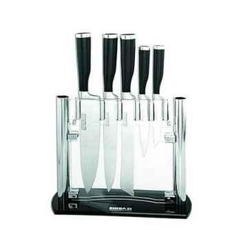 Bloc acrylique de 5 couteaux  - shibazi 3088