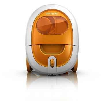 Philips aspirateur sans sac 1800w orange - smallstar 3142