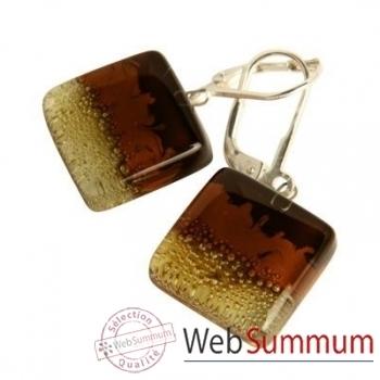 BcommeB-Boucles d'oreilles pendantes carrées, 1.5cmx1.5cm-boc1w