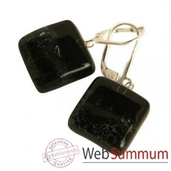 BcommeB-Boucles d'oreilles pendantes carrées, 1.5cmx1.5cm-boc2w