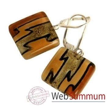BcommeB-Boucles d'oreilles pendantes carrées, 1.5cmx1.5cm-boc3w