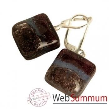 BcommeB-Boucles d'oreilles pendantes carrées, 1.5cmx1.5cm-boc4w