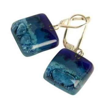 BcommeB-Boucles d'oreilles pendantes carrées, 1.5cmx1.5cm-boc5w