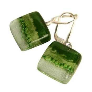 BcommeB-Boucles d'oreilles pendantes carrées, 1.5cmx1.5cm-boc6w