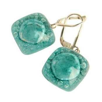 BcommeB-Boucles d'oreilles pendantes carrées, 1.5cmx1.5cm-boc7w