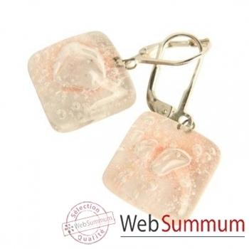 BcommeB-Boucles d'oreilles pendantes carrées, 1.5cmx1.5cm-boc8w