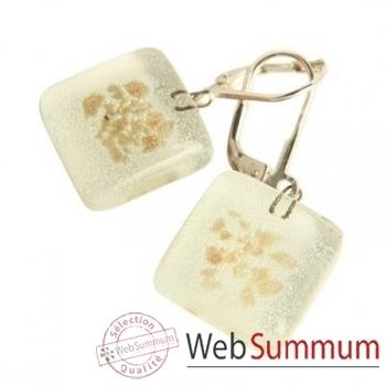 BcommeB-Boucles d'oreilles pendantes carrées, 1.5cmx1.5cm-boc9w