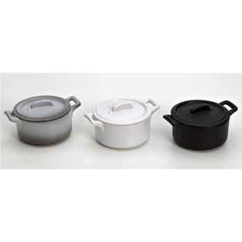 Revol coffret de 3 mini cocottes gris noir blanc - belle cuisine 3256