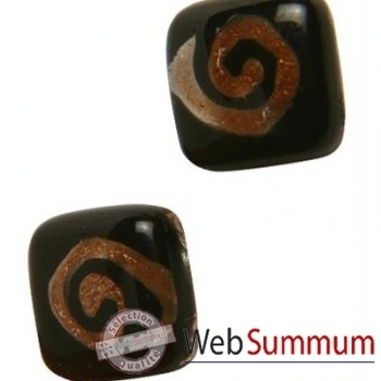BcommeB-Boucles d'oreilles clous, tige en argent-bobc2w