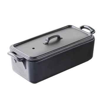 Revol terrine 600 gr noir - belle cuisine 3622