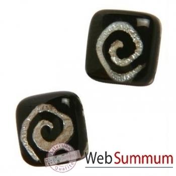 BcommeB-Boucles d'oreilles clous, tige en argent-bobc1w