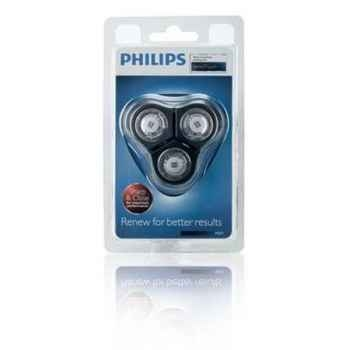 Philips lot de 3 têtes de rasage senso touch 2d + support 4137