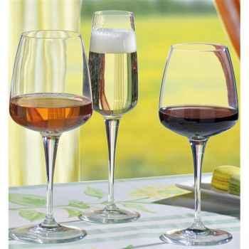 Bormioli lot de 6 verres à vin blanc 35 cl - aurum  4503