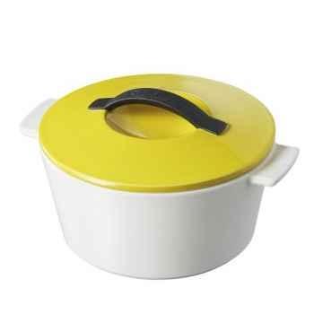 Revol cocotte ronde révolution 19cm - jaune 4526
