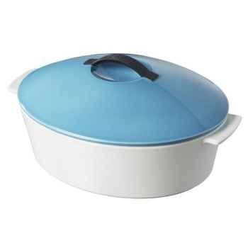 Revol cocotte ovale révolution 32cm - bleu 4598